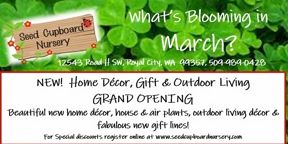 GRAND OPENING Home Decor & Outdoor Living