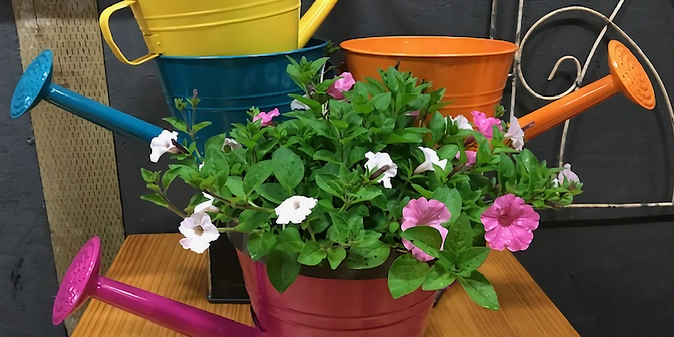 Colorful Watering Can planting Class
