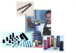 George Capodieci working on suspension at exceptional suspension products