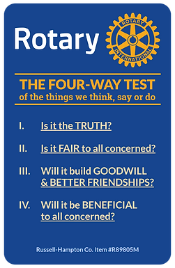 The Four Way Test in action