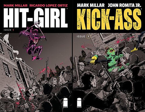 Kick-Ass and Hit-Girl In This Issue EXCLUSIVE set