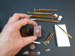 Tools used to make a book