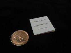 Booklet of gold leaf
