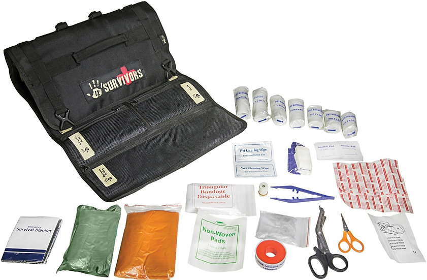 12 Survivors - First Aid Rollup Kit
