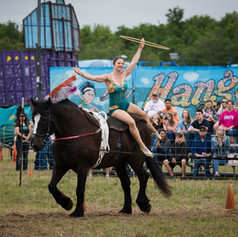 Equestrian Vaulting - Costume by Corey Cheval