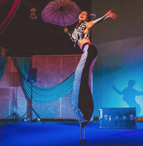 Stilting for Dusty's Ragtime & Novelties