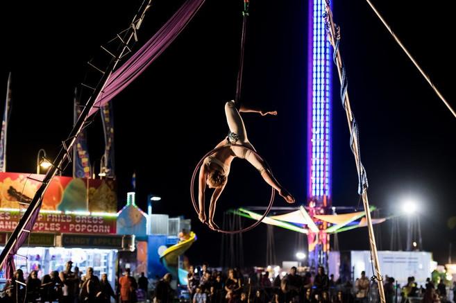 Aerial lyra at the Levy County Fair
