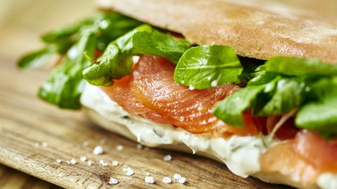 Receta sandwich de salmón