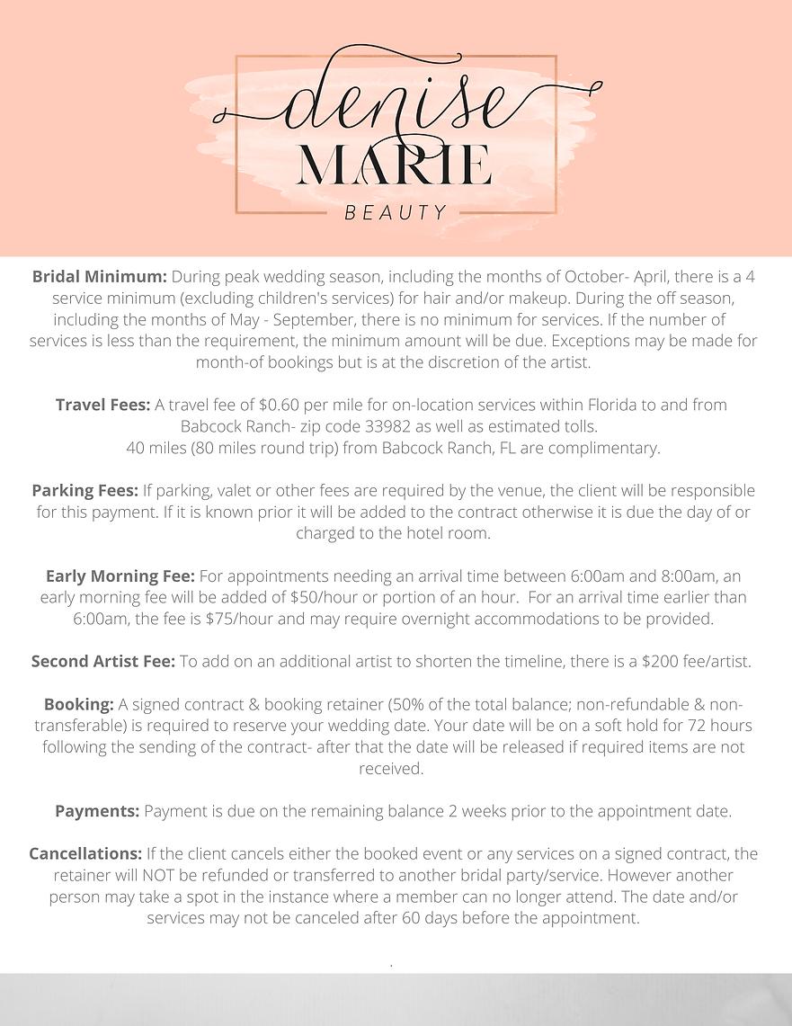 Denise Marie Beauty Details & Fees 2021.