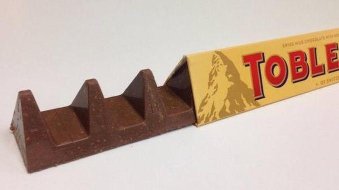La nueva forma del Toblerone