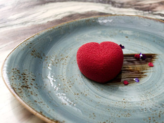 Receta: postre de corazón