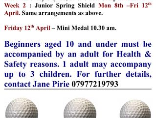 MGC Membership Deals / Junior Easter Coaching