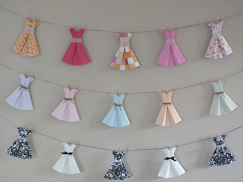 Paper Dress Bunting (Made to Order)
