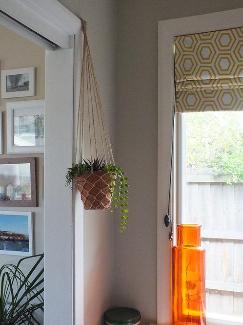 Artifical Hanging Succulent Pot Terracotta