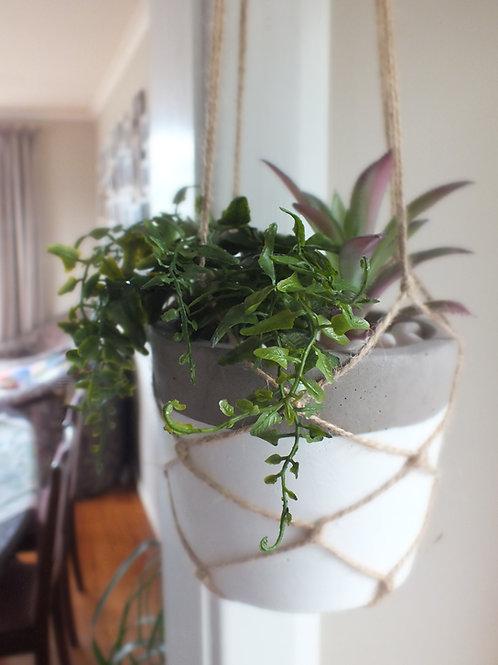 Artificial Hanging Succulent Pot Concrete