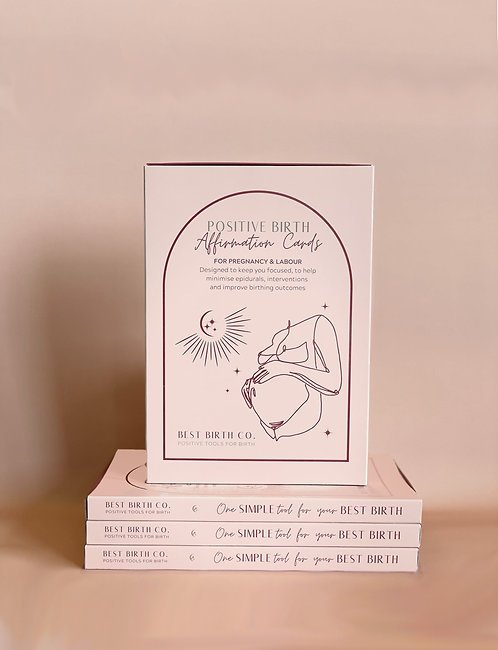 W/S Positive Birth Affirmation Card Deck - 5Pack
