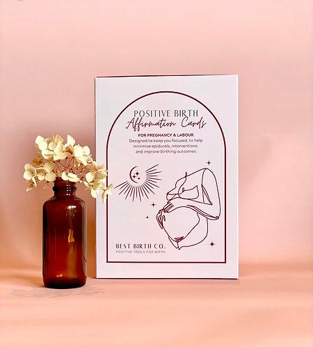 Positive Birth Affirmation Card Deck