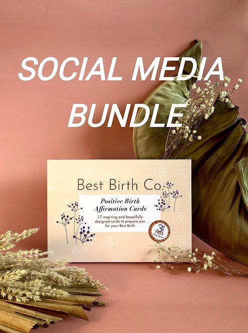 SOCIAL BUNDLE - Positive Birth Affirmation Card Deck