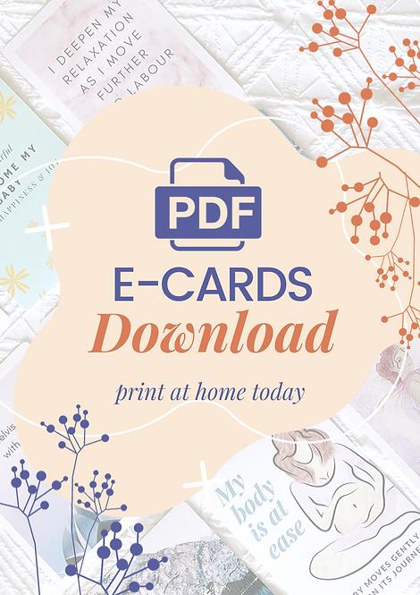 e-Cards   Positive Birth Affirmation Cards