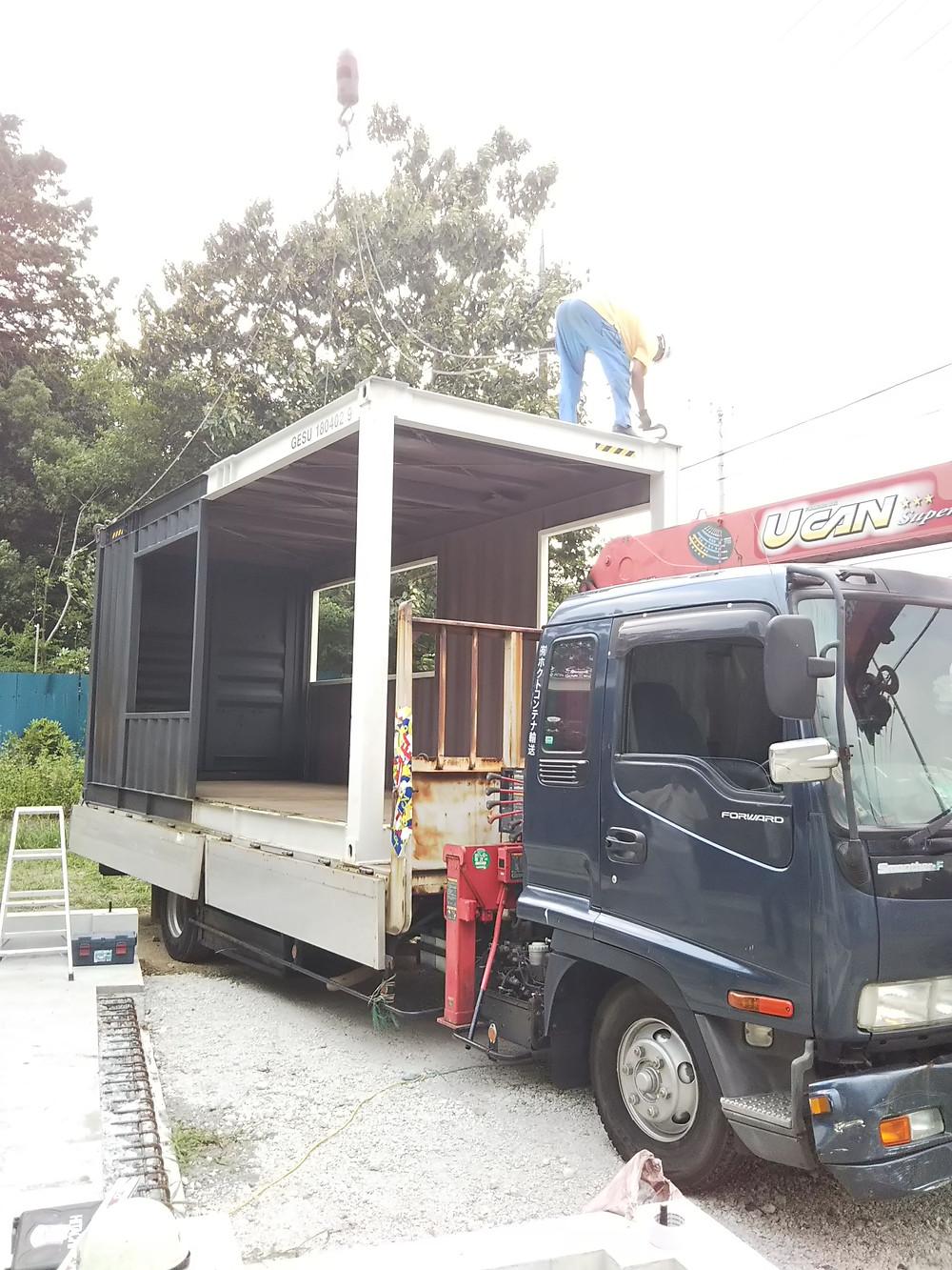 IDMobileコンテナ運搬 トラック搬送、搬入