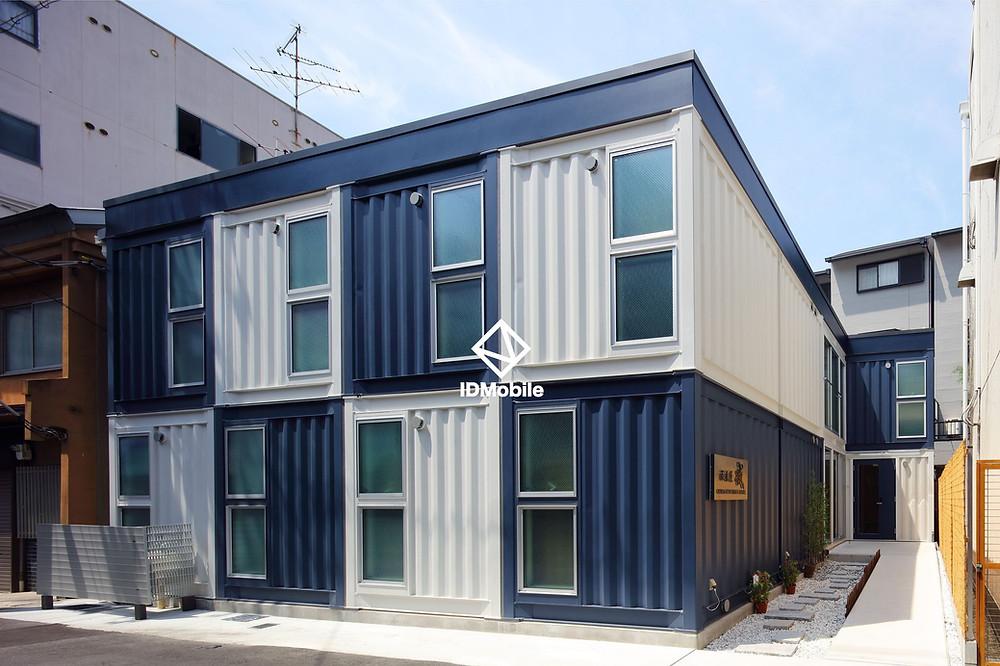 大阪ゲストハウス/ホテルタイプのコンテナハウスはIDMobileの製品で建てられている