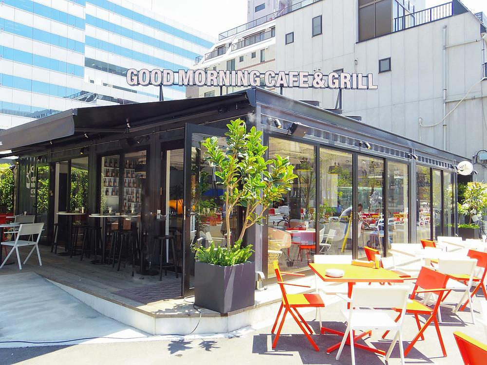都内のコンテナハウス 西新橋のコンテナカフェ グッドモーニングカフェ
