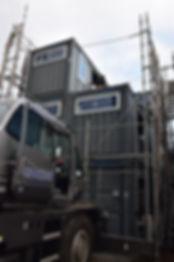 横須賀久里浜コンテナハウス施工中IDMobile