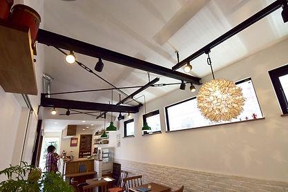 杉並コンテナカフェの天井