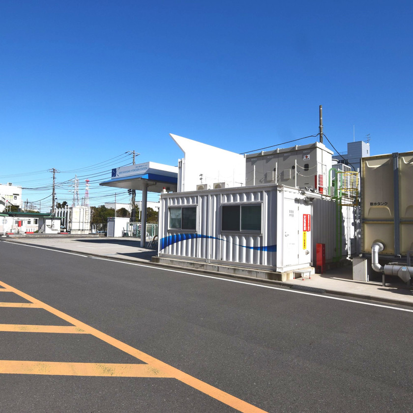 三菱化工機/水素ステーション機器用コンテナ納品IDMobile
