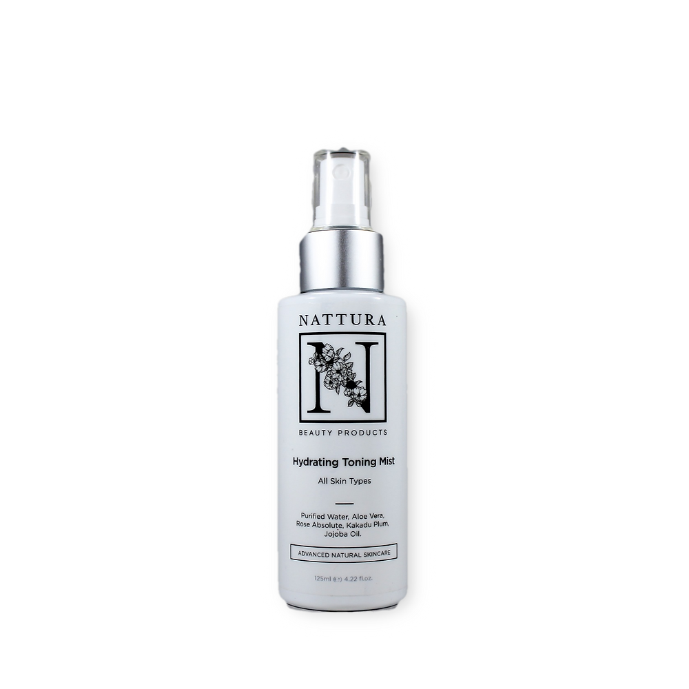 Nattura Beauty Products - Hydrating Toning Mist - 100% Vegan freindly, organic ingredients, cruelty free, salon quality, beauty products,