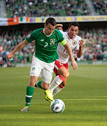 Seamus Coleman looks for a way through.j