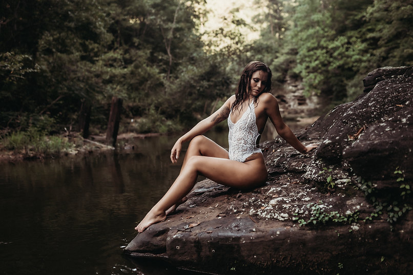 Outdoor Creek Sessions with Elevation Boudoir