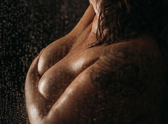 Woman in Shower in Tuscaloosa, AL based studio of Elevation Boudoir