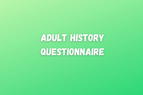 Adult History Questionnaire