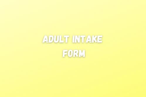 Adult Intake Form