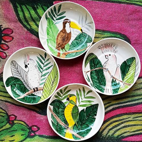 Tropical salad bowls (set of 4)