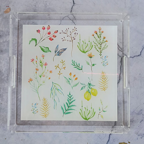 Wildflower Acrylic Tray