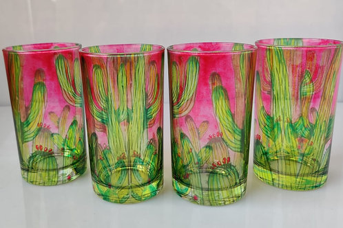 Cactus glasses (set of 4)