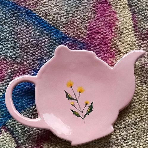 Tea Bag holder (pink)