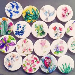 Marble coasters ❤💙💚