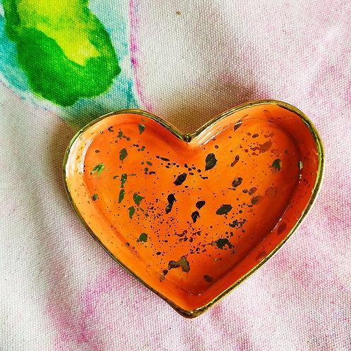 Orange trinket tray