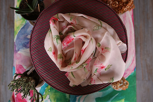 BLUSH BOUGAN SCARF