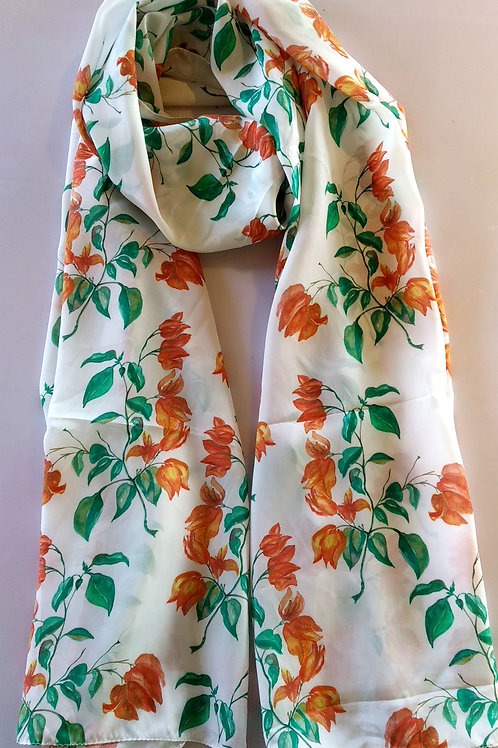 ORANGE BOUGAN SCARF