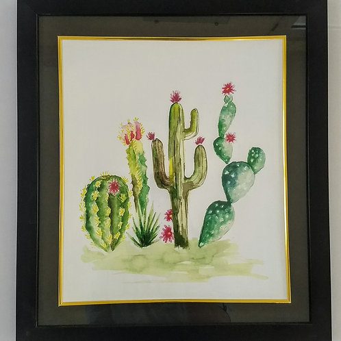 Hand Painted Art Frame (Cactus)