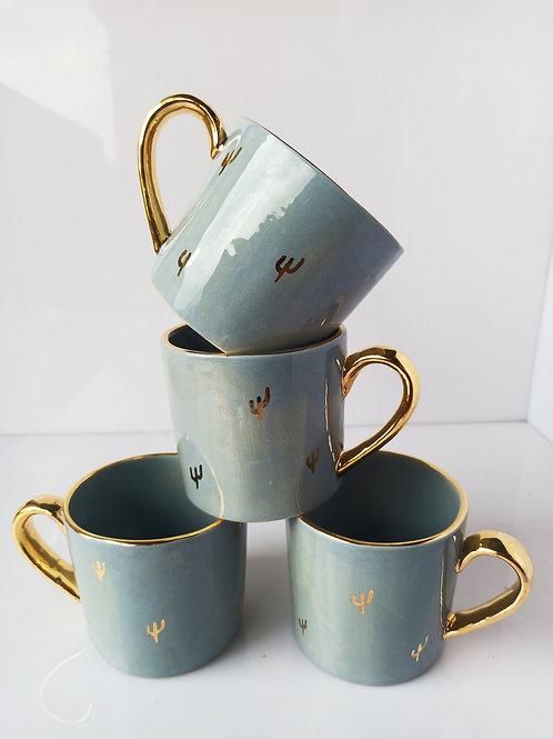 Cactus mugs set of 4