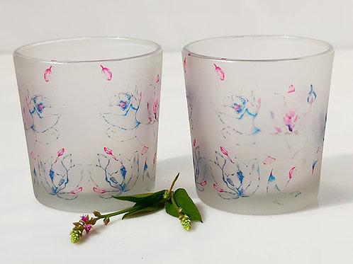 Orchids Candle Votives/ Shot Glasses set of 2