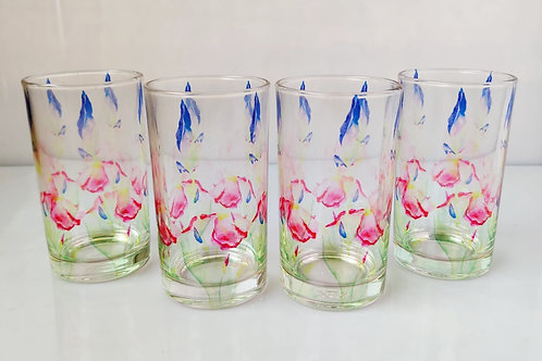 Iris glasses (set of 4)