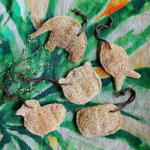 Animal Shape loofahs