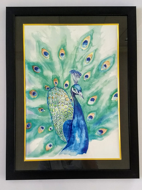 Hand Painted Art Frame (Peacock)