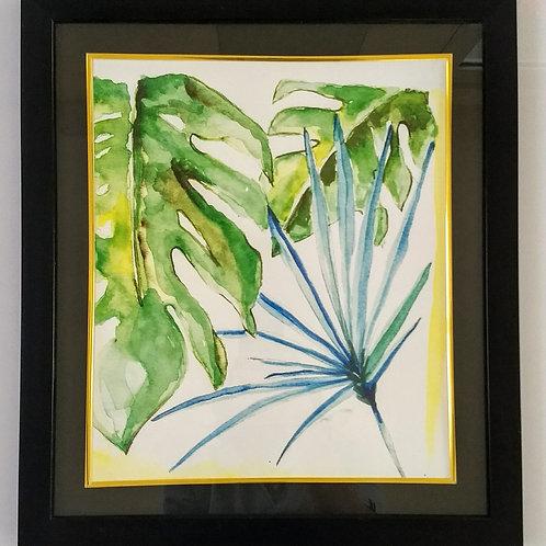Hand Painted Art Frame (Leaf Cluster)